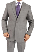 Tapered Leg Lower rise Pants & Get skinny Two Button Slim Fit Grey Glen Plaid Men's Suit $149
