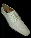 Comfortable Ivory-Off White-Cream Lace up Dress Shoe