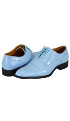 Mens Light Blue ~ Sky Blue~baby~powder blue Dress Shoes $125