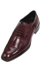 Mens Burgundy ~ Maroon ~ Wine Color Oxford Dress Shoe $99