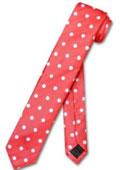 Necktie Skinny Red w/