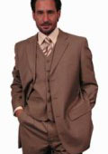 SKU# VOX984 SUPER 110'S EXTRA FINE premier quality italian fabric WOOL COLOR 3PC VETED SUIT. COLOR Gold / Tan ~ Beige $139