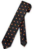 Black w/ Orange Polka