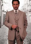 Super 110's Extra Fine Premier Quality Italian Fabric Wool Feel Poly~Rayon 3PC Vested three piece suit $139
