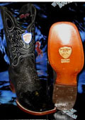 SKU#JH6739 Wild West Genuine Python ~ Snake Square Black Rodeo Western Cowboy Boot