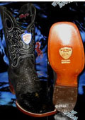 SKU#TC5629 Wild West Genuine Python ~ Snake Square Black Rodeo Western Cowboy Boot