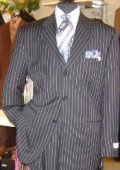 SKU SDT569 Luxeriouse High End UMO Collezion 3Button Super 150 Wool Solid Navy Blue Italian Suit 295