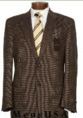 SKU 201542 Loriano 2 Button Shark Skin Texture Brown Smooth Weave Dot Pattern Business Dress Suit