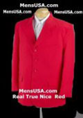 SKU# YTV410 Hot Nice Red Soft Cool Men's Suit + Free Shirt & Tie