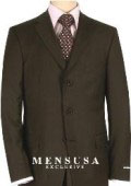 SKU YOS439 Double Vent Dark Brown 3 Buttons Mens Dress Business Suits 149