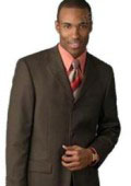 SKU SAH288 chocolate brown 3 Buttons Mens Italian Suits 100 Wool 149