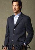 SKU NXG606 Single Breated Navy Blue 3 Button Blazer 199