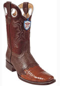 SKU#ZG7842 Wild West Cognac Caimen Belly Wild Rodeo Toe Boots