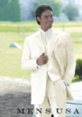 Umo Collection OFF White 3 Piece Men's Vested Super Extra Fine Smooth Fabric Suits $175