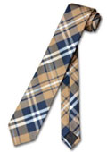 NeckTie Skinny Navy Brown