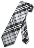 Grey White Glen Plaid