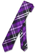 Purple Black White PLAID