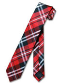 NeckTie Skinny Black Red