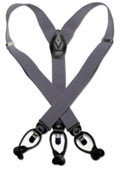 Grey Black Suspenders Elastic