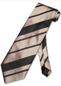 Taupe Light Brown Woven Striped Men's Design Neck Tie $39