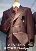 Luxurious Real 100% premier quality italian fabric Design Dark Brown Pinstripe Suit Wool Feel ~ Poly Rayon $195