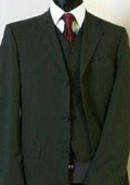 Olive Green Super 150's 3 Buttons Vested Super 150's Wool Feel poly~rayon developed by NASA $139