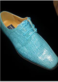 Royal blue men�s dress shoes