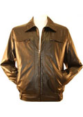 Faux Leather Bomber /