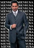 SKU QQY733 Luxurious MU3P Navy Blue With Smoth Pinstripe 3 Pieces Vested Business Suits Double Side Vent