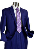 Mens 2 Button 100% Wool Suit Navy Blue $249