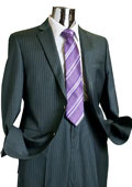 Mens 2 Button 100% Wool Suit Charcoal $249