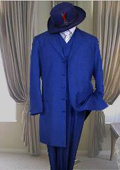 Long Royal Blue Fashion Zoot Suit