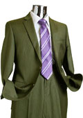 Mens 2 Button 100% Wool Suit Olive Green $249