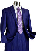 Mens 2 Button 100% Wool Suit Dark Blue $249