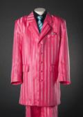 SKU#WS5729 Red Shadow Stripe 5 Piece Zoot KidsToddlerBoy Suits (Black Shirt) $99