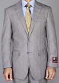 Taupe Windowpane 2 Button