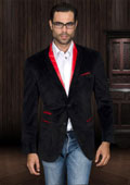 Men's Black Velvet Blazer ~