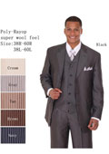 Men's Vested Royal Blue Pinstripe Fashion Zoot Suit