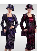 Purple 3 Piece Women Dress Set