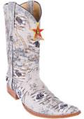 SKU#KA8001 Denim Oryx Handmade Los Altos Fabric Men's COWBOY Fashion Western Boots Riding