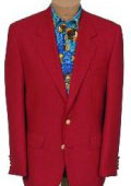 Mens 2 Button Stunning RED DINNER BLAZER SUIT JACKET (Men + Women) $159