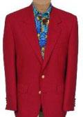 SKU# BR21 Exclusive Mens 2 Button Stunning RED DINNER BLAZER SUIT JACKET (Men + Women) $159