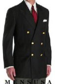 SKU#UMT940 High Quality Black Double Breasted Blazer With Best Cut & Fabric $199