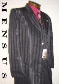 Shiny Black Ton on Ton Mens Fashion Dress Suits $185