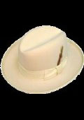 GODFATHER NEW MENS Ivory Off White 100% Wool Homburg Dress Hat 4201 $59