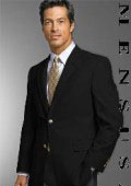 Year'Rounder 19-3 MENS 2 Button Texture Black BLAZE or JACKET With Brass Buttons $99