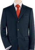 Dark Navy Blue 3 Button Front 4 on Sleeves Fully Lined Metal Buttons $149