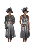 Dress Set Grey/Gold $115