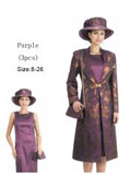 SKU#WO-131 Women Dress Set Purple/Gold $139