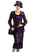 SKU#WO-150 Women 3 Piece Dress Set Purple, Raspberry $139
